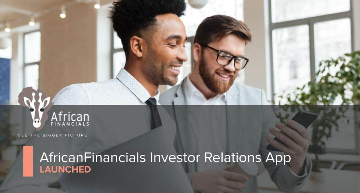 AfricanFinancials Launches Investor Relations App
