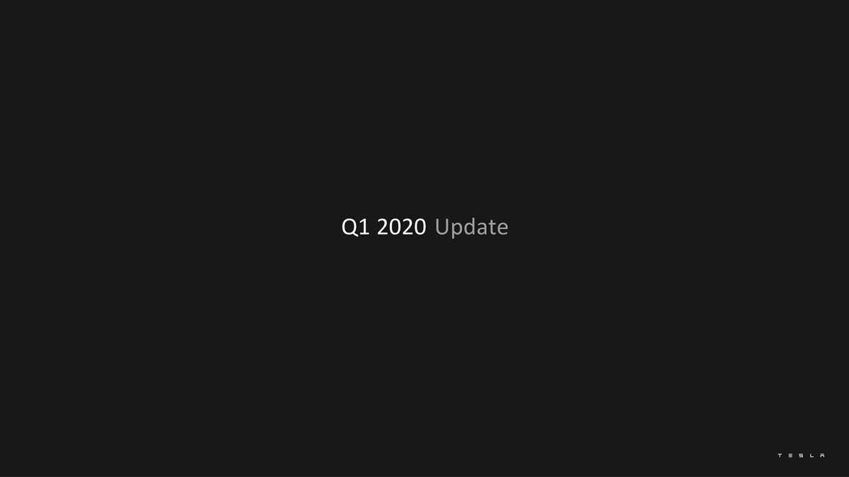 Tesla Q1 presentation - slide 1