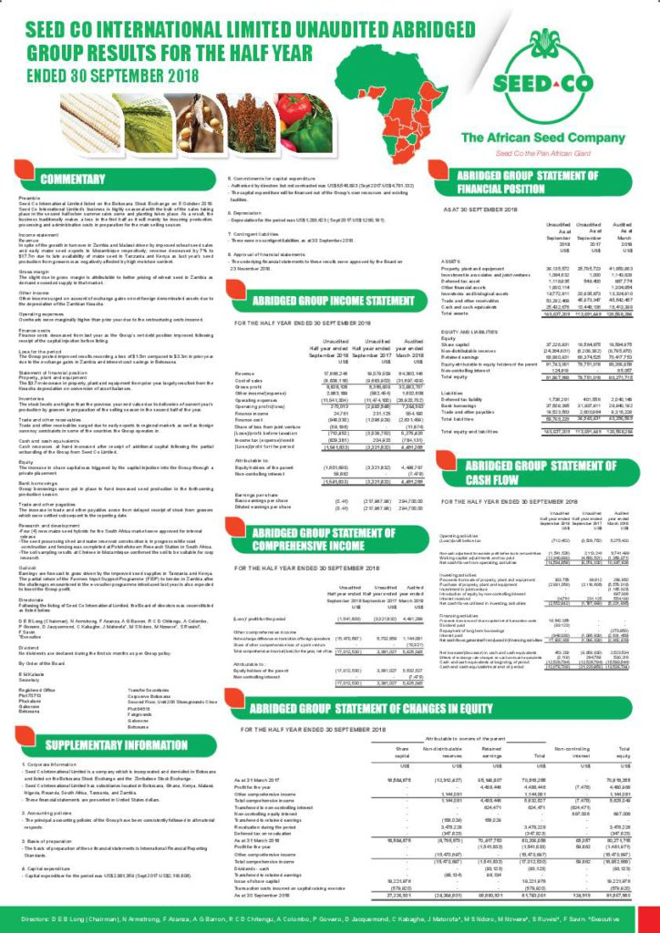 Read the Seed Co International Limited HY2019 interim report