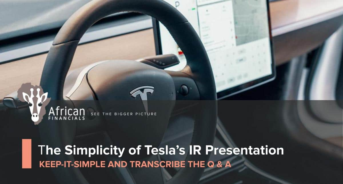 The Simplicity of Tesla's Investor Relations Presentation