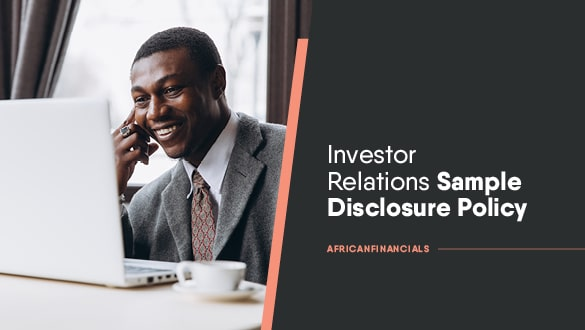 Investor Relations Sample Disclosure Policy