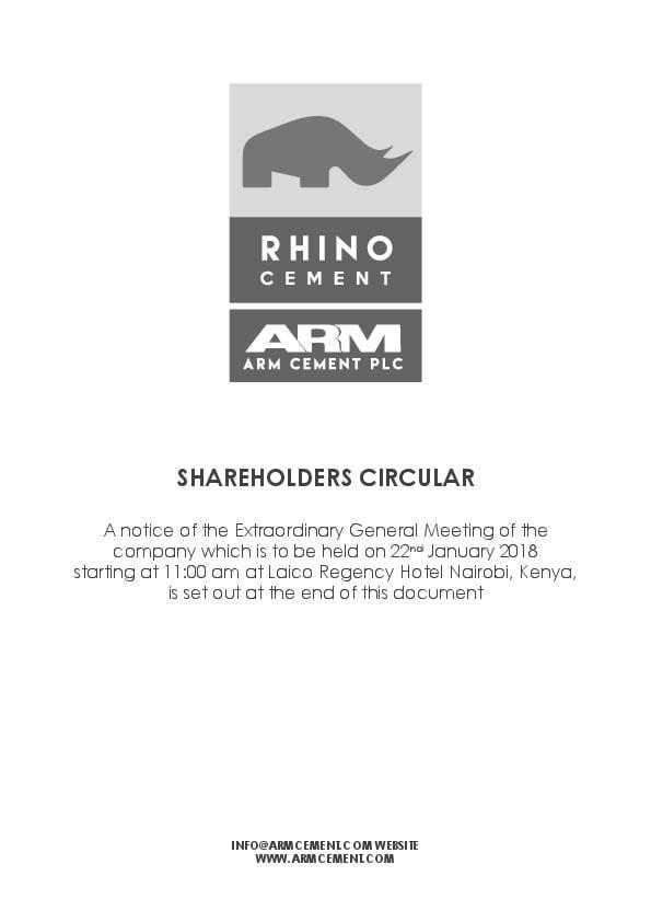 ARM Cement Limited (ARM ke) 2017 Circular - AfricanFinancials