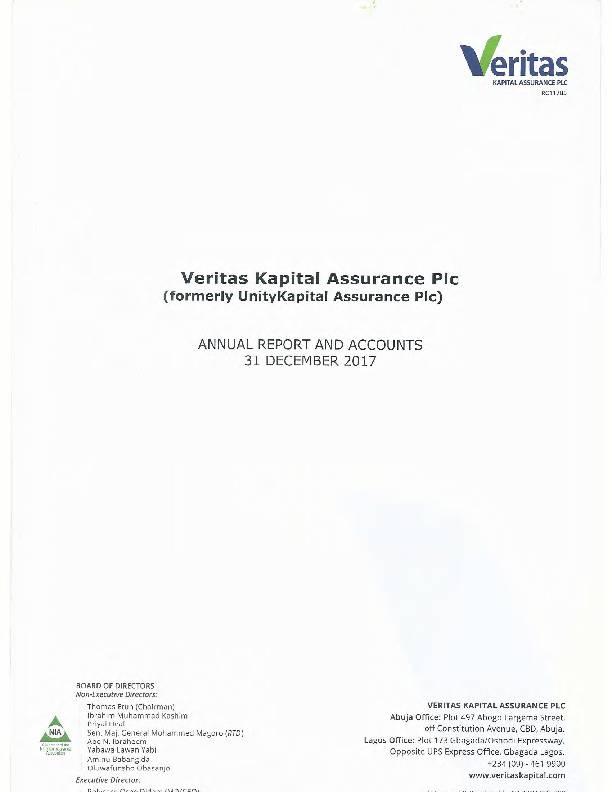 Veritas Kapital Assurance Plc (VERITA ng) 2017 Abridged